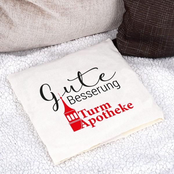 Kirschkernkissen mit Logo bedruckt