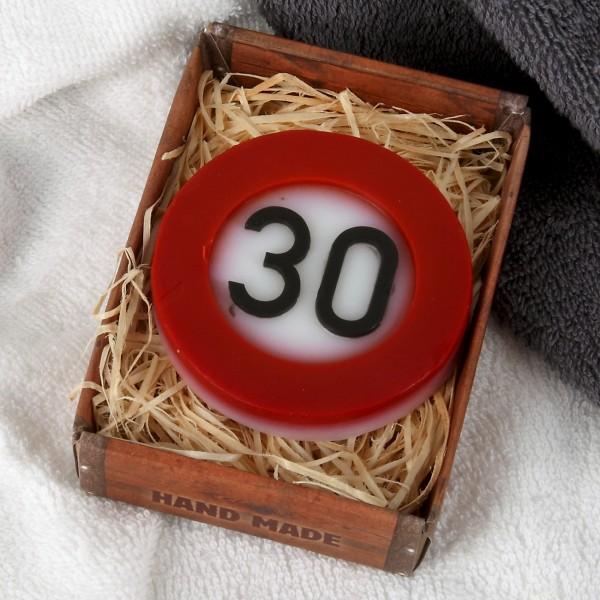 Verkehrszeichen Handseife zum 30. Geburtstag