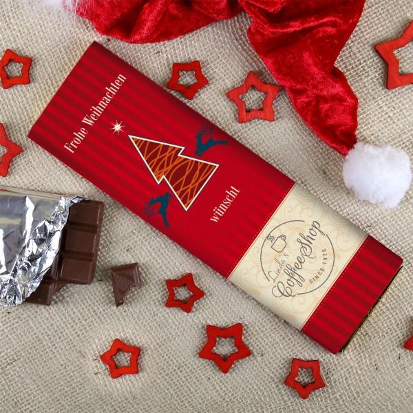 Schokolade mit Ihrem Firmenlogo zu Weihnachten