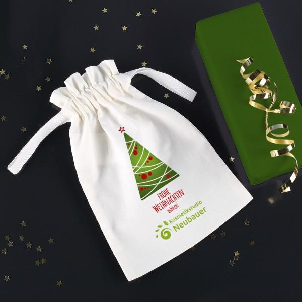 Geschenksäckchen zu Weihnachten mit Ihrem Firmenlogo