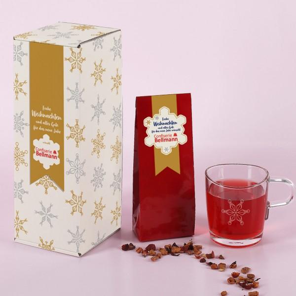 Tee-Geschenkset zu Weihnachten mit Ihrem Firmenlogo
