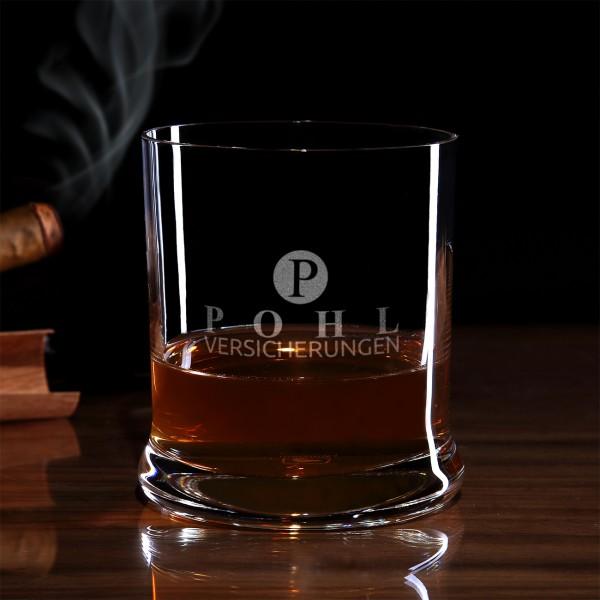Leonardo Whiskyglas inkl. Gravur des Logos