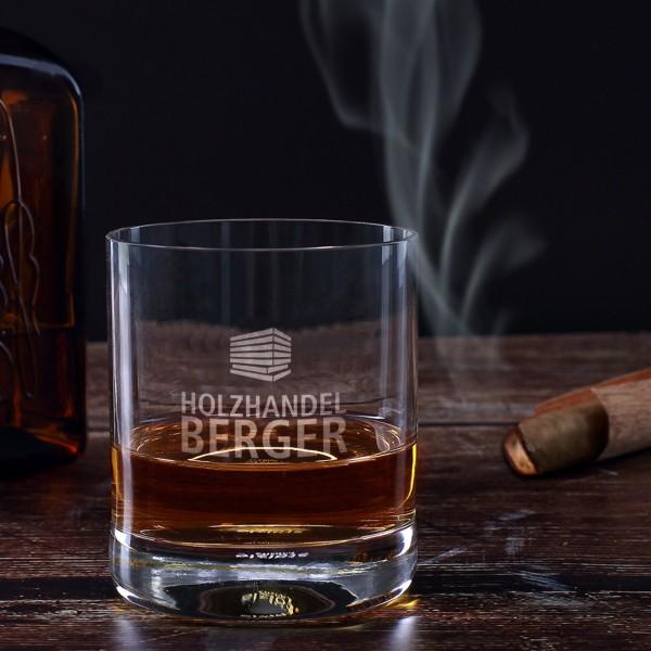 Schlichtes Whiskyglas inkl. Gravur des Logos