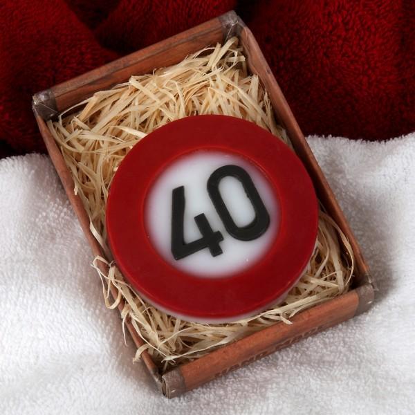Verkehrszeichen Handseife zum 40. Geburtstag
