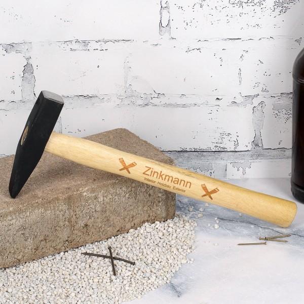 Hammer mit Firmenlogo graviert