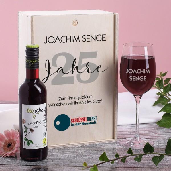 Wein-Geschenkset zum Jubiläum