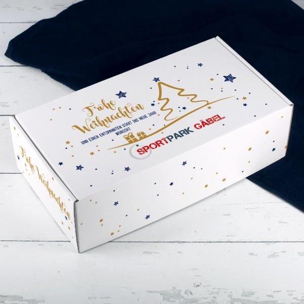 """Geschenkverpackung """"Frohe Weihnachten"""" mit Ihrem Logo"""