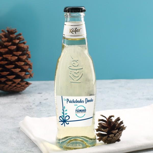 Kleine Secco-Flasche mit personalisiertem Etikett