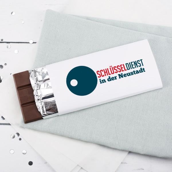 100g Schokolade inkl. Druck des Logos