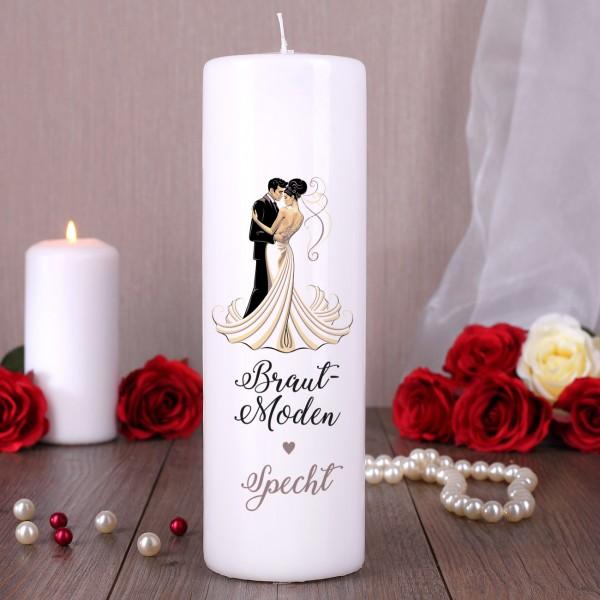 Große Kerze in weiß oder cremfarben inkl. Druck des Logos