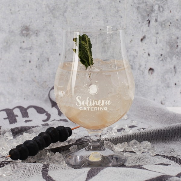 bauchiges Cocktailglas inkl. Gravur des Logos