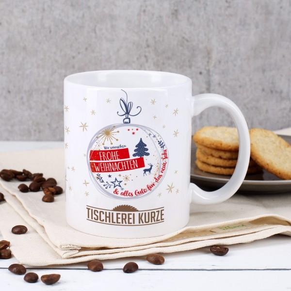 Tasse mit Ihrem Firmenlogo - Frohe Weihnachten