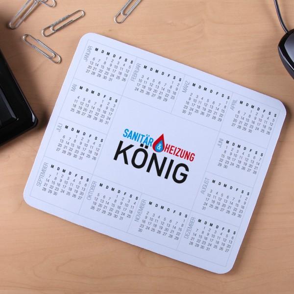 Mousepad mit Kalender und Logo