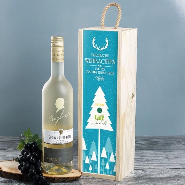 Wein-Geschenkset zu Weihnachten mit Logoaufdruck