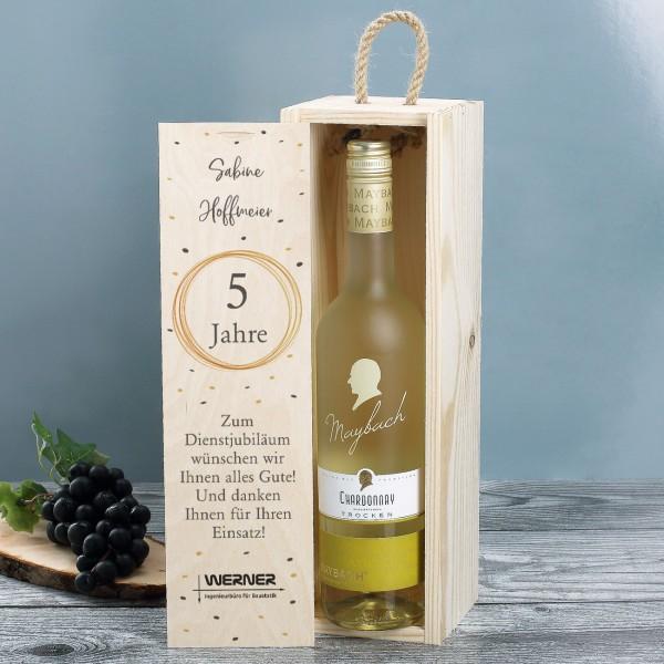 Personalisiertes Wein-Geschenkset zum Jubiläum