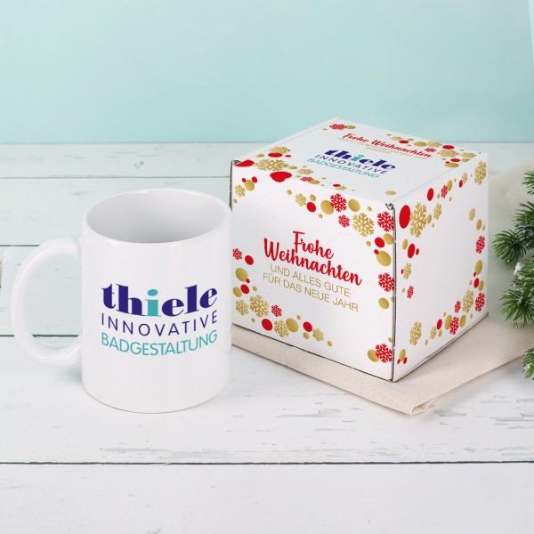 Weihnachtliches Geschenkset - Tasse und Verpackung