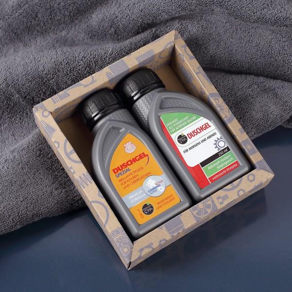Motoröl-Duschgel im Doppelpack