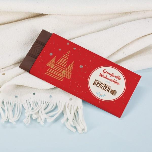 Genussvolle Weihnachtsschokolade mit Ihrem Firmenlogo